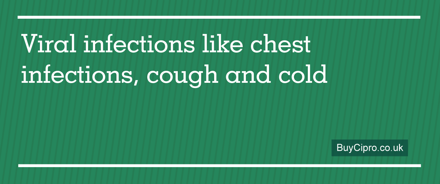 Viral infections like chest infections, cough and cold