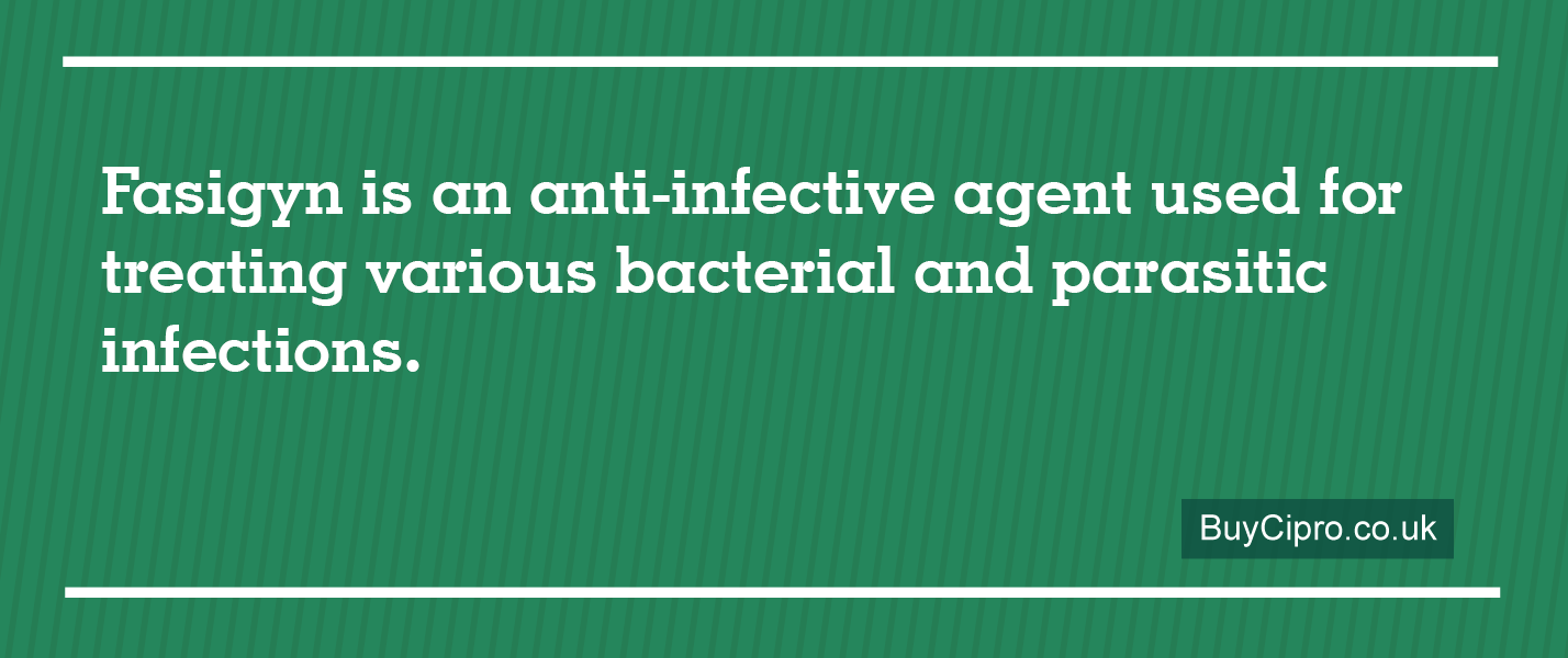 Fasigyn is an anti-infective agent